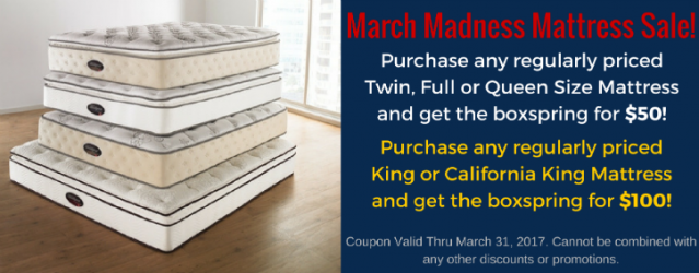 Banner of March Madness Mattress Sale!