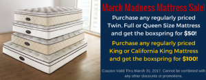 March Madness Mattress Sale!